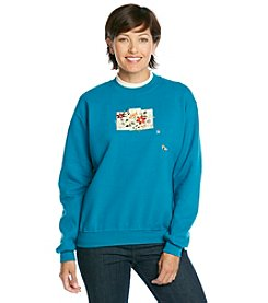 Morning Sun® Fall Floral Patches Sweatshirt