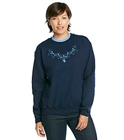 Morning Sun® Blue Lace Scoop Sweatshirt