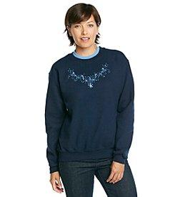 Morning Sun® Blue Lace Scoop Sweatshirt