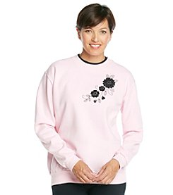 Morning Sun® Jeweled Flower Sweatshirt
