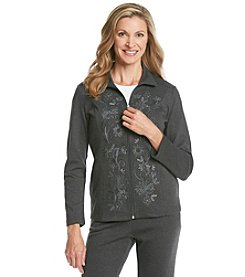 Breckenridge® Petites' Embroidered Panel Jacket
