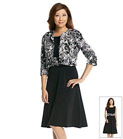 Jessica Howard® Petites' Elbow Sleeve Print Jacket Dress