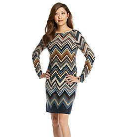 Jessica Howard® Petites' Chevron Stripe Dress