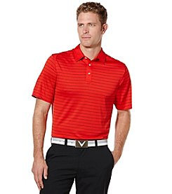 Callaway® Men's Big & Tall Short Sleeve Striped Polo Shirt