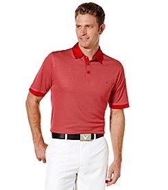 Callaway® Men's Big & Tall Short Sleeve Industrial Jacquard Polo Shirt