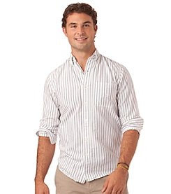Chaps® Men's Big & Tall Wide Stripe Woven Oxford Shirt
