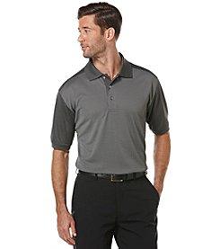 PGA TOUR Men's Big & Tall Mini Jacquard Polo Shirt