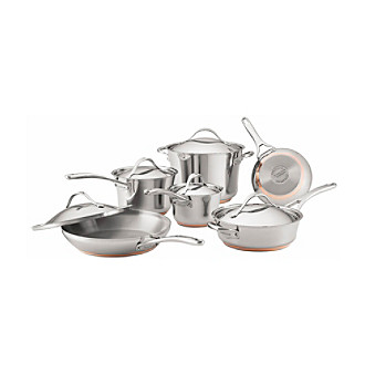 Anolon® Nouvelle Copper 11-pc. Stainless Steel Cookware