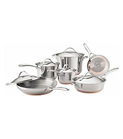 Anolon® Nouvelle Copper 11-pc. Stainless Steel Cookware Set