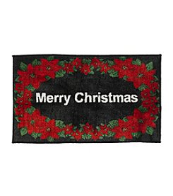 Nourison Merry Christmas Poinsetta Rug