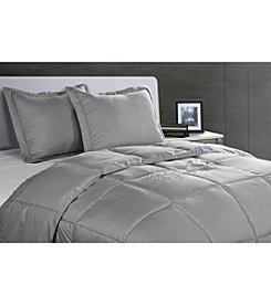 Stayclean Silver Nanofiber Microfiber Stain and Water-Resistant Comforter Set