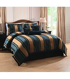 Pem America Midnight Stripe 7-pc. Comforter Set