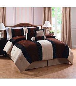 Pem America Nakita Brown 7-pc. Comforter Set *