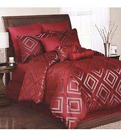 Lifestyles Cinnamon Diamond Lattice 10-pc. Comforter Set *