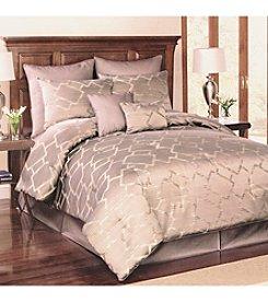 Lifestyles Mocha Platinum Interlock Jacquard 8-pc. Comforter Set *