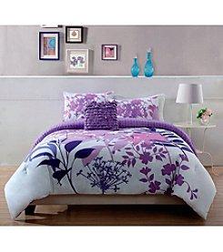 Pem America Lavender Shadow Comforter Bedding Collection