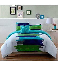 Pem America Watercolor Blue Comforter Bedding Collection