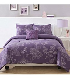 Pem America Etched Floral Comforter Bedding Collection