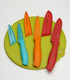 Fiesta® 7-pc. Cutlery Set with Lemongrass Cutting Board