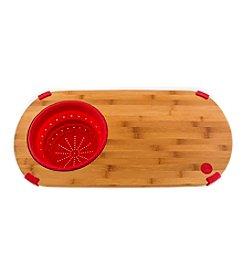 Fiesta® Bamboo Scarlet Colander Board