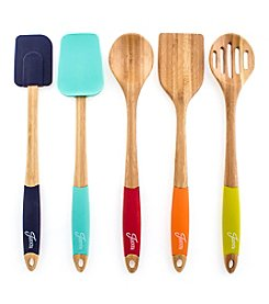 Fiesta® 5-pc. Bamboo and Silicone Utensil Set
