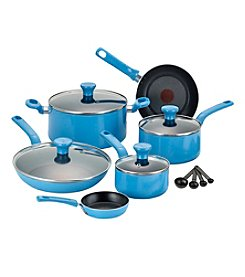 T-fal® Excite 14-pc. Turquoise Nonstick Cookware Set
