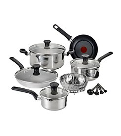 T-fal® Excite 14-pc. Stainless Steel Nonstick Cookware Set