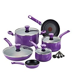 T-fal® Excite 14-pc. Grape Nonstick Cookware Set + $20 Cash Back