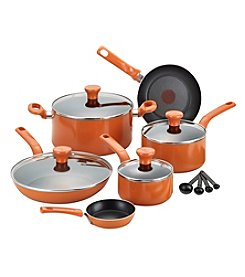 T-fal® Excite 14-pc. Orange Nonstick Cookware Set
