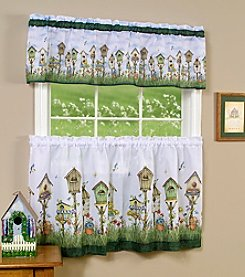 Achim Home Sweet Home Tier and Valance Set