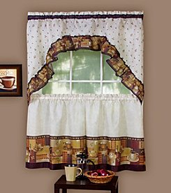 Achim Coffee Tier and Swag Valance Set