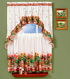 Achim Country Garden Tier and Swag Valance Set