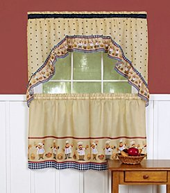 Achim Cucina Tier and Swag Valance Set