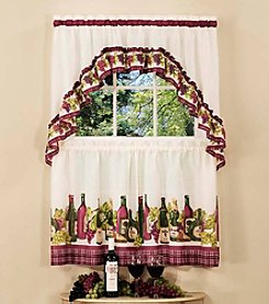 Achim Chardonnay Tier and Swag Valance Set