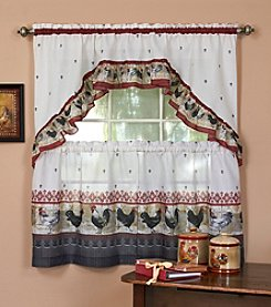 Achim Rooster Tier and Swag Valance Set