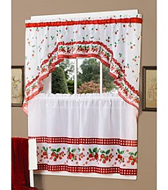 Achim Strawberry Vine Tier and Swag Valance Set