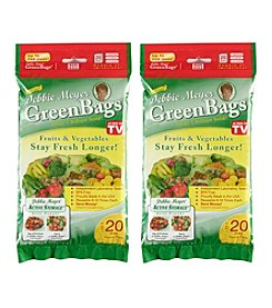 Debbie Meyer Set of Two 8 Medium, 8 Large, and 4 X-Large Green Bags