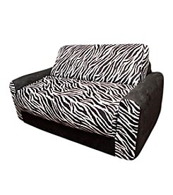 Fun Furnishings Black Zebra Sofa Sleeper