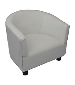 Fun Furnishings White Vinyl Kid's Chair