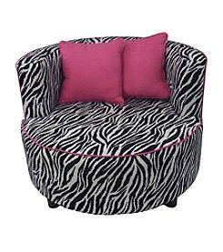 Fun Furnishings Hipster Tween Zebra Pink Chair