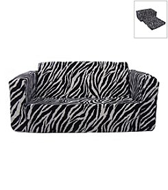 Fun Furnishings Toddler Zebra Flip Sofa