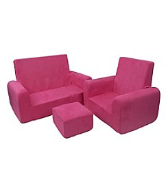 Fun Furnishings Sofa Chair and Ottoman Set
