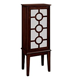 Powell® Nevin Java and Mirror Jewelry Armoire