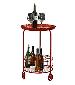 Powell® William Red Wine Rack Accent Table