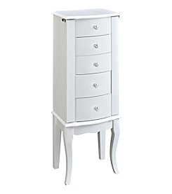 Powell® Cassie White Jewelry Armoire