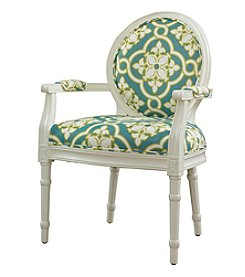Powell® Casper White and Teal Ghost Chair