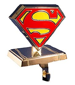Kurt Adler Silver Superman Logo Stocking Hanger