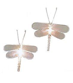 Kurt Adler 10-Light Silver Mesh Dragonfly Light Set