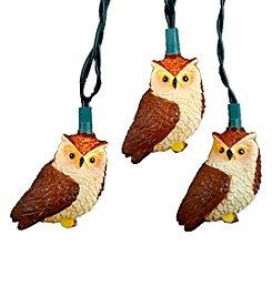 Kurt Adler 10-Light Brown Owl Light Set