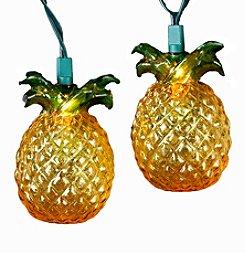 Kurt Adler 10-Light Glass Look Pineapple Light Set